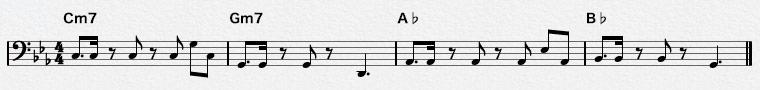 16ビートのベースパターン-1