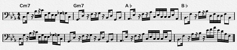 16ビートのベースパターン-2